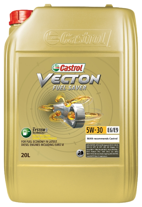 Масло моторное Castrol Vecton Fuel Saver 5W30 E6/E9 20литр (р1277)